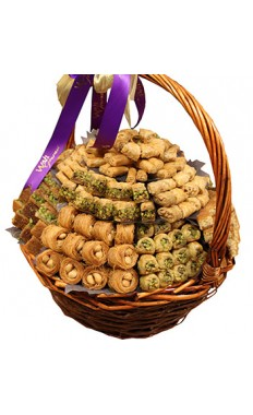 Assorted Baklawa Basket By Wafi Gourmet