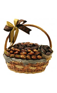Basket Assorted Dates Stuffed & w/out Stuffed  w/1 Jute Bag
