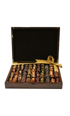 Gift Box Large (Brown, Gold)- Assorted Dates