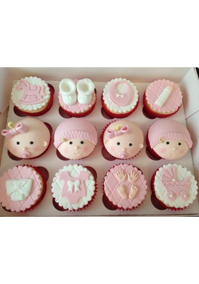 It's a Baby Girl Cupcakes