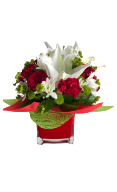 Pretty Red Present Bouquet